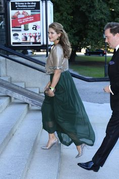 Princess Madeleine arrives with husband Chris O'Neill: King Carl Gustaf XVI's Jubilee celebration in Sweden Hollywood Fashion, Royal Fashion, Sweden Fashion, Royal Monarchy, Swedish Royalty, Royal Dresses, Princess Outfits, Crown Princess Victoria, Queen
