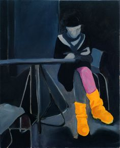 Saatchi Online Artist: jagna wesolowska; Oil, 2009, Painting yellow big shoes