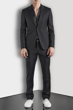 Emporio Armani-single breasted in worsted wool--USD1695
