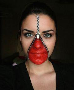 Creative Zipper Halloween Makeup