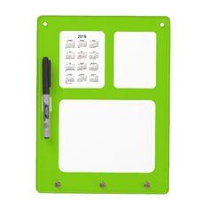 2016 Calendar Yellow Green Dry Erase Board