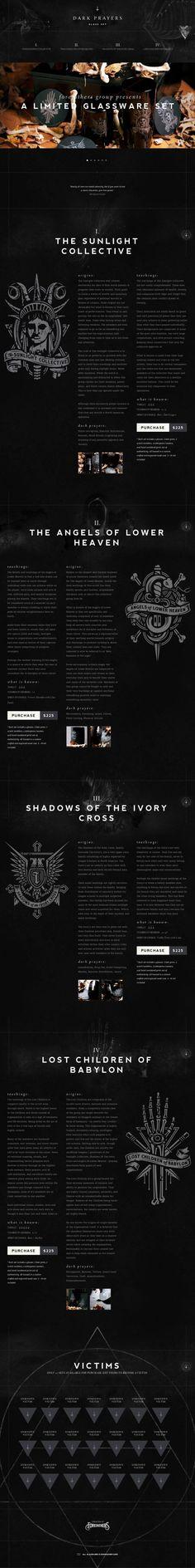 Dark Prayers - A Limited Black Glassware Set - Best website, web design inspiration showcase