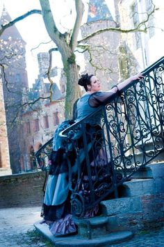Model: Miss Marble, Photographer: Viona-Art    Victorian Bustle gown by Skeletons in the Closet