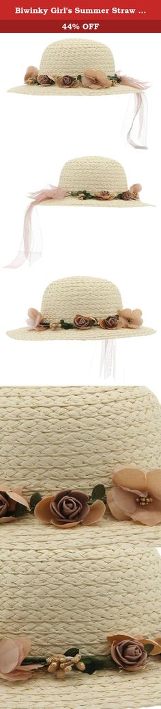 Biwinky Girl's Summer Straw Hat Flowers Beach Sun Hats White. A wise choice for your purchasing. If you have any questions, please email to us. We will try our best to make you satisfaction. Thank you for your understanding and cooperation. Notes: Please allow slightly deviation due to manual measurements. Actual product color may differ slightly from the pictures due to lighting variations during photography and computer screen.
