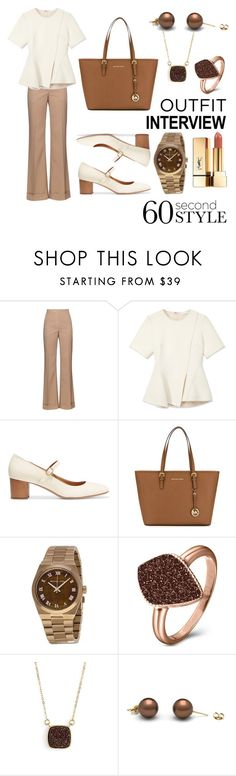 """outfit interview 60 second style"" by meenjasmin ❤ liked on Polyvore featuring Nina Ricci, Alexander Wang, Isabel Marant, MICHAEL Michael Kors, Michael Kors, H.Azeem, Elise M., Yves Saint Laurent, jobinterview and 60secondstyle"