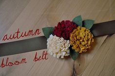 DIY Autumn Bloom Belt