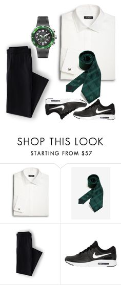 """""""Slytherin party ideas"""" by nadhiraxs on Polyvore featuring Saks Fifth Avenue, Warner Bros., Lands' End, NIKE, Philip Stein, men's fashion and menswear"""