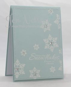 The Tiny Blue Butterfly: Uniko Studio Snowflake Cards, Snowflakes, Holiday Cards, Christmas Cards, Christmas Stuff, Snowman Cards, Cardmaking And Papercraft, Blue Butterfly, Clear Stamps