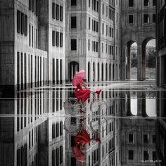Stendhal syndrome: The Red and the Black poetic and charming series by Peter Zelei   #art #arthistory #artphoto #blackandwhite #budapest #color #fineart #hungary #peterzelei #photo #photography #portrait #psychology #red #stendhal #stendhalsyndrome
