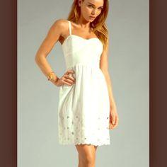 Trina Turk A Line Floral Eyelet Slip Dress Nwt