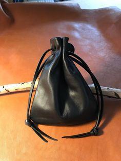 Leather Drawstring Pouch Bag,Leather Sack Bag,Italian Leather Black Bag,Pouch Bag,Coin Pouch,Amulet Holder,Game Bag,Plonge Leather Bag Leather Gifts, Leather Pouch, Handmade Leather, Handmade Bags, Marble Bag, Mens Leather Necklace, Leather Jewelry, Silver Jewelry, Medicine Bag