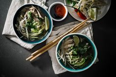 Chicken Pho with Zucchini Noodles - 170 Calories
