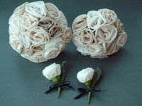 Silver Sixpence Fabric Flower Bouquets - Bridal Bouquet Packages & Prices
