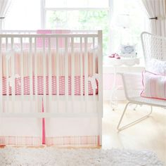 Rosenberry Rooms has everything imaginable for your child's room! Share the news and get $20 Off  your purchase! (*Minimum purchase required.) On Sale Pink Sorbet 2-Piece Crib Bedding Set #rosenberryrooms