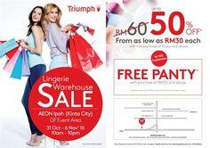 31 Oct-6 Nov 2016: Triumph Lingerie Warehouse Sale