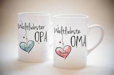 """""""Weltliebste OMA & Weltliebster OPA"""" - SET von Hugs'n'Cups auf DaWanda.com"""