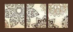 Mandala Tribal Art Prints Abstract Digital Fine Art Set of 6