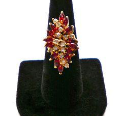 Cocktail Ring Modernist Design vintage sterling & by JoolsForYou, $28.00