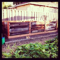 Compost pile at the Forge