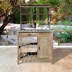 Renaissance Outdoor Hand-scraped Potting Bench | Overstock.com Shopping - Great Deals on Outdoor Benches