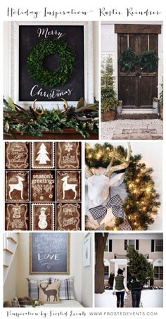 Christmas Inspiration- Rustic Reindeer Rustic and Vintage Holiday Decor ideas, deer theme details and decoration #christmas #holiday #decorate #deer #rustic #vintage @frostedevents www.frostedevents.com
