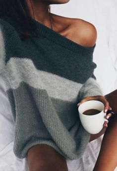 off shoulder colorblock sweaters