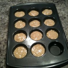 Ever have one empty? I ALWAYS seem to! Fill it with water to help make your muffins come out moist!