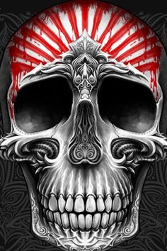 stars and stripes, skull art Skull Tattoos, Body Art Tattoos, Tatoos, Totenkopf Tattoos, Skull Pictures, Skull Artwork, Skull Painting, Skulls And Roses, Human Skull