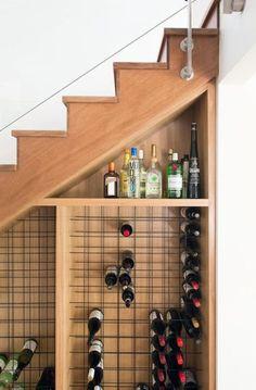 Under stairs wine storage stair rack staircase the cellar ideas shop buy unde Storage Under Staircase, Space Under Stairs, Stair Storage, Wine Storage, Hidden Storage, Under Stairs Wine Cellar, Wine Cellar Design, Basement Stairs, Basement Ceilings