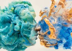 double exposure faces blended into plumes of ink in water by chris slabber (2)