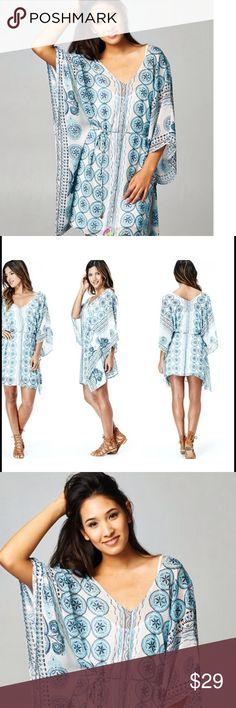 Love stitch blue summer dress Love stitch dress comes with tank for under this dress Love Stitch Dresses Mini
