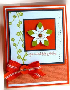 nice layer. offset 2nd flower, then snip. Me, My Stamps and I