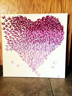 Purple Butterfly Heart Color Gradient Wall Home by LoveCreator