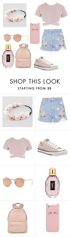 """Untitled #8"" by hxsyaren ❤ liked on Polyvore featuring Full Tilt, Topshop, Asilio, Converse, Ray-Ban, Givenchy and Kate Spade"