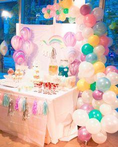 """129 Likes, 4 Comments - アニヴァーサリー・プランナー Sayaka Kon (@enchantedstory_s) on Instagram: """"《Unicorn&Co. Party》 ・ ・ うわっ可愛いッッ💝 って思わず声がでちゃうインパクト....🎉 #SweetsBuffet コーナーは、#photobooth としても完璧⭐️ *…"""""""