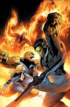 Fantastic Four vs. the Super Skrull by Greg Land