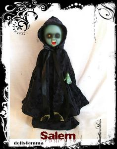Handmade Hooded Cape and Gown and Ribbon for LIVING by DOLLS4EMMA, $20.00