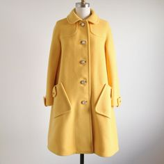 Vintage Canary Yellow Coat by salvagelife on Etsy, $98.00