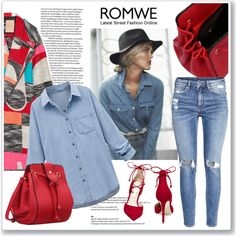 Romwe bag by ruza-b-s on Polyvore featuring polyvore, fashion, style, WithChic, Roksanda, H&M, Steve Madden and clothing