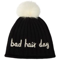 John Lewis Bad Hair Day Beanie, Black (€23) ❤ liked on Polyvore featuring accessories, hats, beanies, bobble hat, bobble beanie, beanie cap hat, beanie hat and john lewis hats
