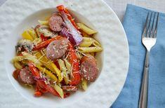 ... garlic basil shrimp with penne in a spicy basil marinara
