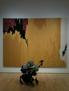 Clyfford Still and baby. Abstract Paintings, Abstract Canvas, Clyfford Still, Living Room Canvas, Colour Field, Modern Artists, Abstract Styles, Abstract Expressionism, Baby Items