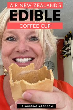 In their quest to rid the planet of millions of plastic cups on their flights, Air New Zealand have partnered with a local company who makes edible coffee cups. I put one to the test and made a little video. Here is my impression ... #ediblecups #ecotravel #airline #travel