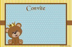 Convite personalizado Ursinho Rei