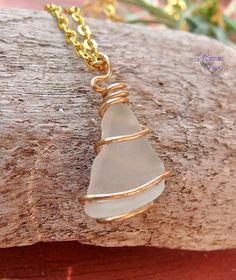 Sea Glass Necklace - Hawaiian jewelry from north shore, Oahu
