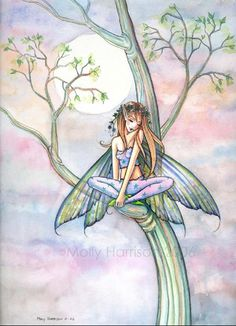 Fairy Art: Afternoon dreaming by Artist Molly Harrison - <3 this one! So sweet!