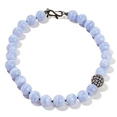 "Rarities: Fine Jewelry with Carol Brodie Blue Lace Agate and Moonstone 20"" Beaded Necklace at HSN.com."
