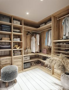 Tropical Villa In Thailand Based On An Ancient System Of Architecture Walk In Closet Design, Bedroom Closet Design, Wardrobe Design, Closet Designs, Bedroom Decor, Walk In Robe Designs, Small Wardrobe, Sliding Wardrobe, Modern Wardrobe