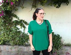 Look do dia usando verde Greenery,ESTÁ NA MODA,cor do ano, greenery, look do dia, look real