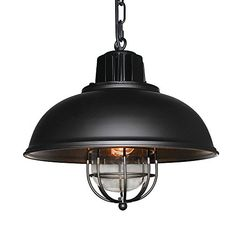 $99 free shipping w/ PRIME LNC Vintage Industrial Iron Glass Pendant Light (aff link)